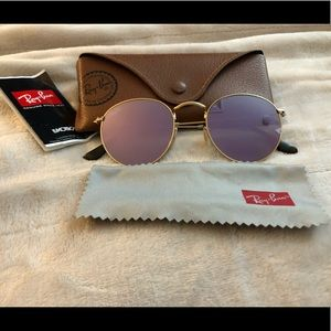 Authentic Ray-bans Round flash lenses